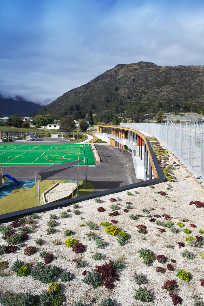 Green roof at the Remarkables Primary School