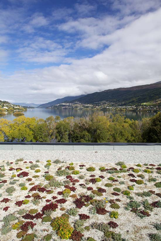 View from the Green roof on the Remarkables Primary School